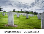 Rows Of Tombstones In A...