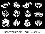 insurance vector icons | Shutterstock .eps vector #201365489