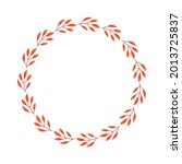 vector wreath of autumn leaves... | Shutterstock .eps vector #2013725837