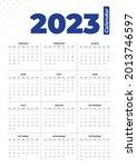 2023 simple basic calendar... | Shutterstock .eps vector #2013746597