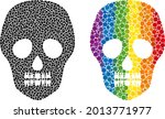 skull mosaic icon of circle...   Shutterstock .eps vector #2013771977