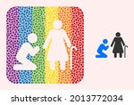 dotted mosaic man pray for... | Shutterstock .eps vector #2013772034