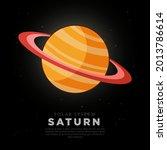 brown saturn ring planet vector ...   Shutterstock .eps vector #2013786614
