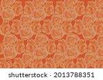 rose flower seamless pattern.... | Shutterstock .eps vector #2013788351