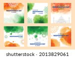 hand painted watercolor india... | Shutterstock .eps vector #2013829061