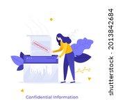 office worker or clerk... | Shutterstock .eps vector #2013842684