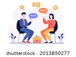 male and female characters are... | Shutterstock .eps vector #2013850277