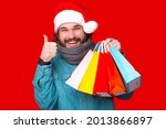 Happy Young Bearded Man Wearing ...