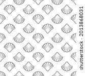 seamless pattern with sea shell ...   Shutterstock .eps vector #2013868031