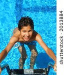 boy coming out of a swimming... | Shutterstock . vector #2013884
