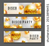 set of 3d abstract banners with ... | Shutterstock .eps vector #2013898451
