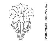 cactus of flower vector icon... | Shutterstock .eps vector #2013909467