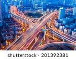beautiful city interchange... | Shutterstock . vector #201392381