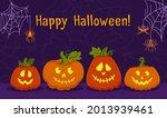 happy halloween card  pumpkin... | Shutterstock .eps vector #2013939461