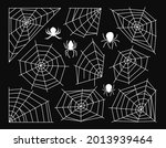 cobweb and spider halloween... | Shutterstock .eps vector #2013939464