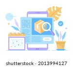 package tracking app  delivery...   Shutterstock .eps vector #2013994127
