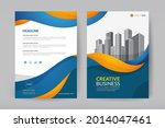corporate business cover design ...   Shutterstock .eps vector #2014047461