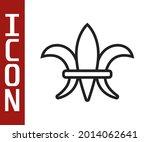 black line fleur de lys icon... | Shutterstock .eps vector #2014062641
