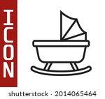 black line baby stroller icon... | Shutterstock .eps vector #2014065464