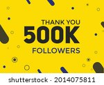 thank you 1m followers colorful ...   Shutterstock .eps vector #2014075811