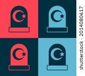 pop art muslim cemetery icon... | Shutterstock .eps vector #2014080617