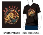 go pizza t shirt design with... | Shutterstock .eps vector #2014088051