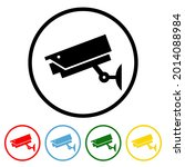 cctv icon with color variations....   Shutterstock .eps vector #2014088984