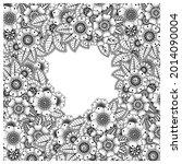 mehndi flower decorative... | Shutterstock .eps vector #2014090004