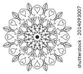 company name mandala nature eps ... | Shutterstock .eps vector #2014093007