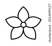 flower icon. decorative... | Shutterstock .eps vector #2014099127