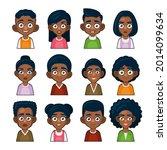 black african american or hindu ...   Shutterstock .eps vector #2014099634