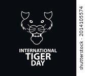 international tiger day vector... | Shutterstock .eps vector #2014105574