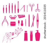 Vector Icons Of Cosmetics And...
