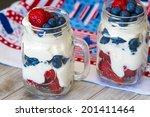 greek yogurt and berries... | Shutterstock . vector #201411464