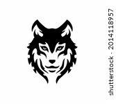 tribal wolf head logo. tattoo... | Shutterstock .eps vector #2014118957