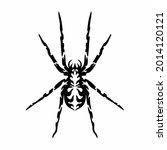 tribal spider head logo. tattoo ... | Shutterstock .eps vector #2014120121