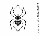 tribal spider head logo. tattoo ... | Shutterstock .eps vector #2014120127