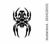 tribal spider head logo. tattoo ... | Shutterstock .eps vector #2014120151