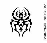 tribal spider head logo. tattoo ... | Shutterstock .eps vector #2014120154