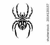 tribal spider head logo. tattoo ... | Shutterstock .eps vector #2014120157