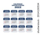 2022 year calendar. week starts ... | Shutterstock .eps vector #2014130534