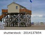Stilt houses the wooden huts on ...