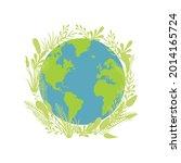 vector earth illustration and... | Shutterstock .eps vector #2014165724