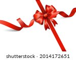 red ribbon isolated on white... | Shutterstock .eps vector #2014172651