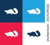 beaver mammal animal shape blue ...   Shutterstock .eps vector #2014198181