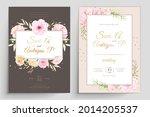 beautiful wedding invitation... | Shutterstock .eps vector #2014205537