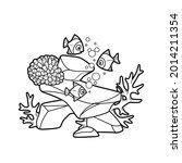 corals and anemones grow on... | Shutterstock .eps vector #2014211354