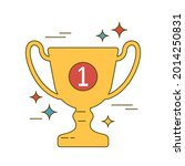 champion gold cup. award for... | Shutterstock .eps vector #2014250831