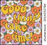 retro daisy flowers... | Shutterstock .eps vector #2014252784