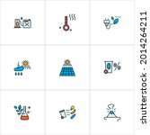 Ecology Icons Colored Line Set...